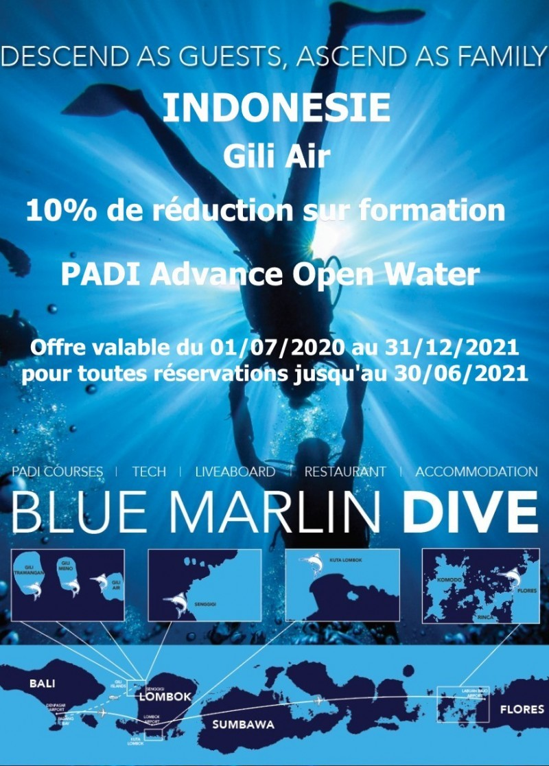 Remise Advance Open Water centre Blue Marlin Gili Air