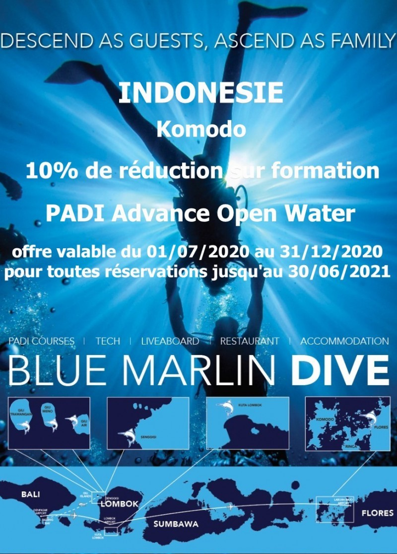 Remise Advance Open Water centre Blue Marlin Komodo