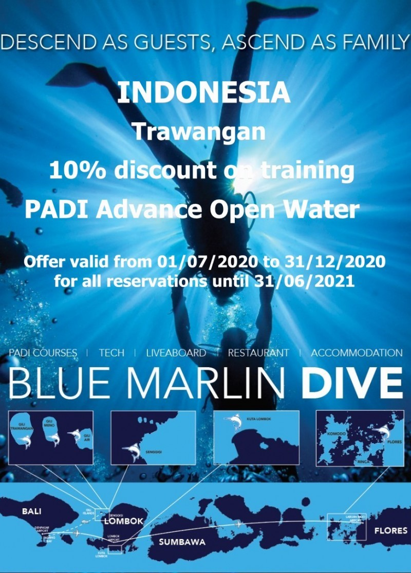 Remise Advance Open Water centre Blue Marlin Trawangan