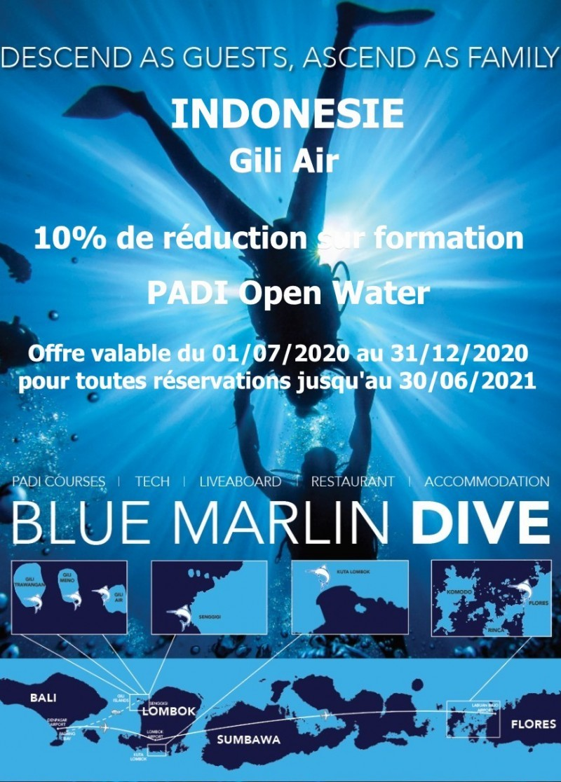Remise Open Water centre Blue Marlin Gili Air