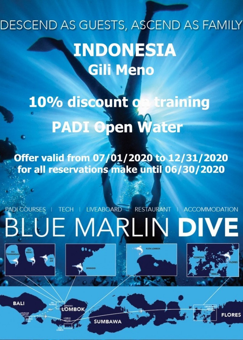 Remise Open Water centre Blue Marlin Gili Meno