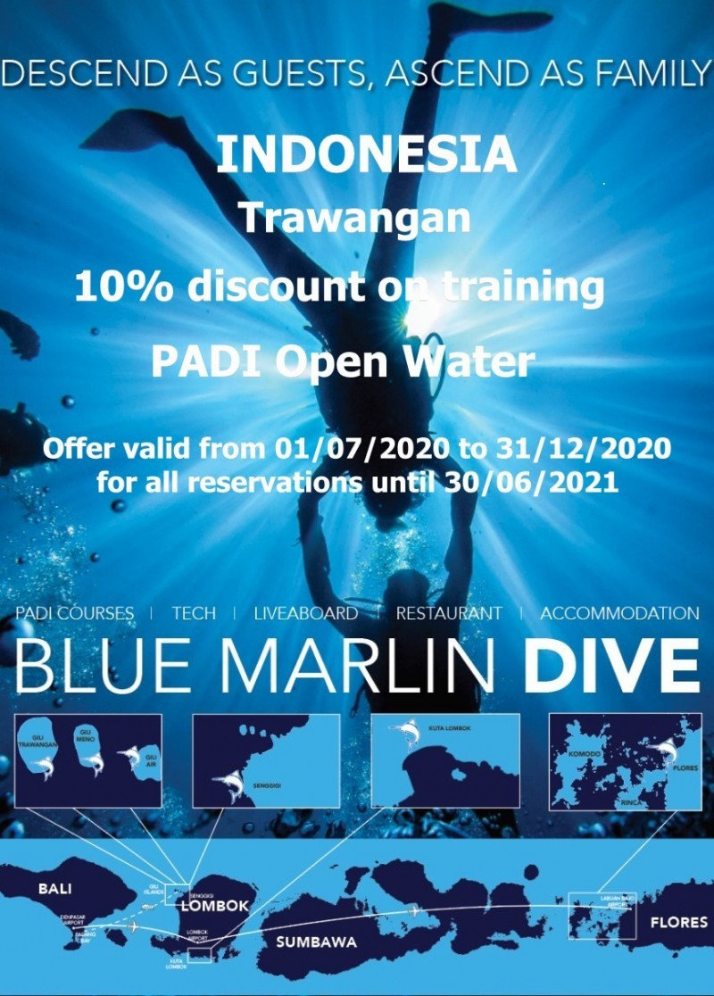 Remise Open Water centre Blue Marlin Trawangan