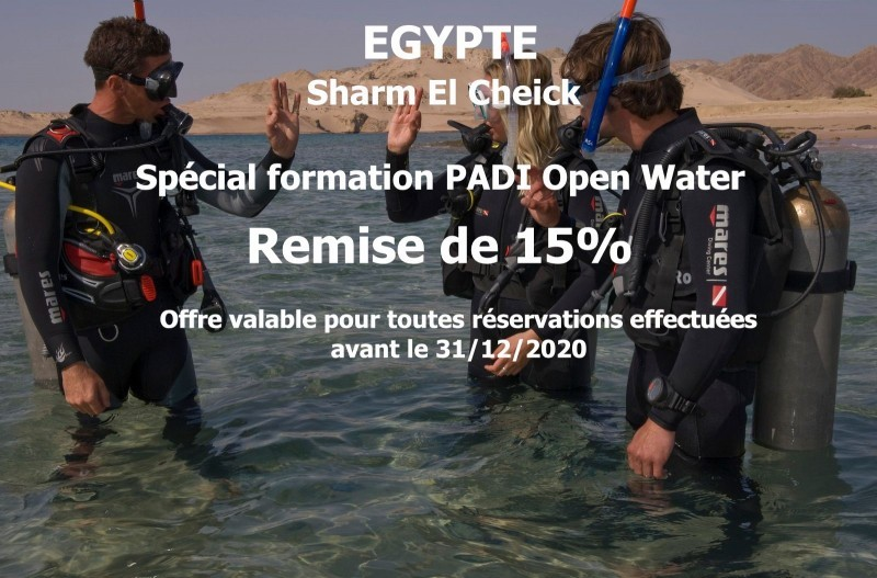 """Offre spécial """"formation Open Water"""" centre Red Sea Diving Collège"""