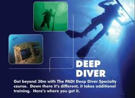 Padi Deep Diver Speciality Course
